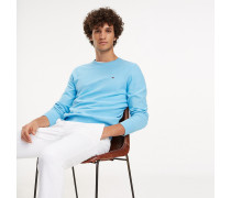 Baumwoll-Pullover mit Rundhalsausschnitt