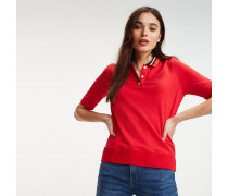 Poloshirt aus Bio-Baumwolle mit Tommy-Streifen