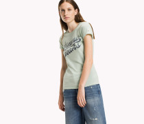 T-Shirt aus Bio-Baumwoll-Mix