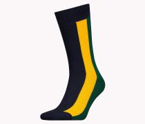 Gestreifte Socken im Farbblockdesign