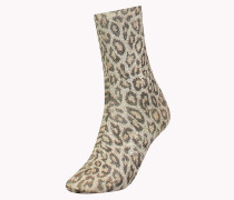 TH WOMEN LEOPARD SOCK 1P