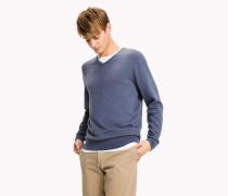 Pullover mit V-Ausschnitt aus Seidenmix