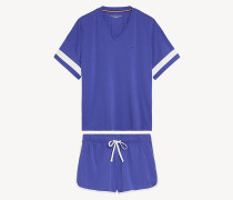 Jersey-Shorts-Set im Farbblockdesign