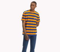 Gestreiftes T-Shirt mit Branding