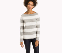 Taillierter Bateau-Pullover