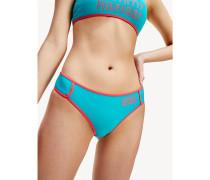 Brazilian-Bikinihose mit Retro-Logo