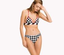 Gigi Hadid Triangel-Bikini mit Flaggenprint
