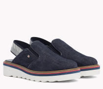 Denim Slingback Slip-On Shoes