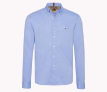 Regular Fit Hemd mit Streifen-Einsatz