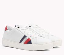 Leder-Sneaker mit Flag