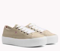 Pastellfarbener Flatform Sneaker