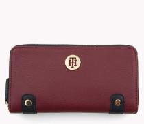 Brieftasche mit Monogramm-Emblem