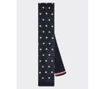 Gepunktete Baumwollstrick-Krawatte