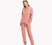 Pullover aus gebürsteter Baumwolle mit Logo-Design