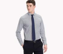 Gepunktetes Slim Fit Hemd