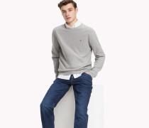 Texturierter Pullover mit Rundhalsausschnitt