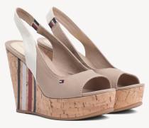 Slingback-Sandale mit Keilabsatz