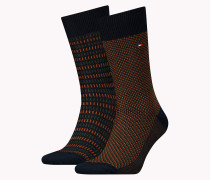 TH MEN THREE TONE SOCK 2P