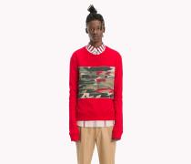 Sweatshirt mit Camouflage-Kontrastbahnen in Tarnfarben
