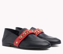 Leder-Loafer mit Kette