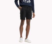 Straight Fit Shorts aus Twill