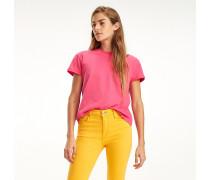 T-Shirt mit Krempelärmeln