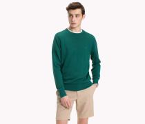 Rundhals-Pullover aus Baumwoll-Seiden-Mix