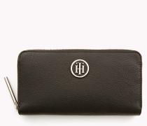 Brieftasche mit Monogramm und umlaufendem Reißverschluss