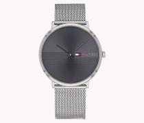 Armbanduhr mit Mesh-Armband