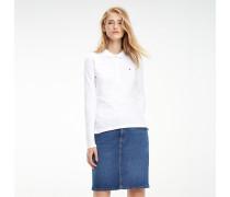 Slim Fit langärmliges Poloshirt