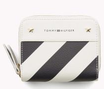 Gestreifte Brieftasche mit zweifachem Reißverschluss