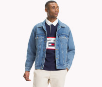 90s Jeansjacke mit Segel-Logo