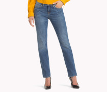 Straight Fit Jeans mit Stretch