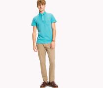 Slim Fit Poloshirt mit Logo am Kragen