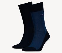 2er-Pack Socken mit Mikroprint