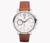 Armbanduhr mit kontrastierendem Zifferblatt