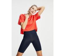 Boxy Fit T-Shirt mit langem Rückensaum