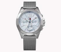 GIGI HADID Uhr aus Edelstahl mit Mesh-Armband