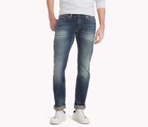 Straight Fit Jeans mit Fade-Effekt