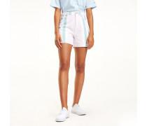 Baumwoll-Shorts mit mehrfarbigen Streifen