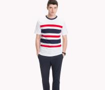 T-Shirt mit Streifen-Einsatz