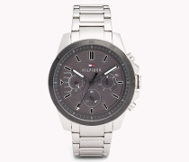 Decker Edelstahl-Armbanduhr