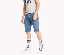 Straight Leg Denim-Shorts