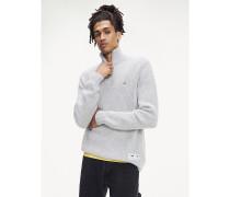 Hochgeschlossener Patentstrick-Pullover