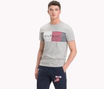 Gestreiftes Logo-T-Shirt