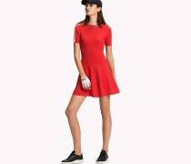 Kurzärmeliges Pullover-Kleid