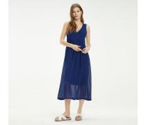 Chiffon-Kleid mit Streifen
