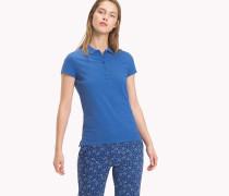 Slim Fit Poloshirt mit Aufdruck