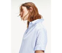 Cropped Fit Bluse mit Knoten