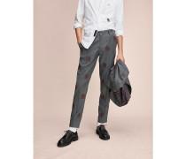 Bestickte Anzughose aus Schurwolle